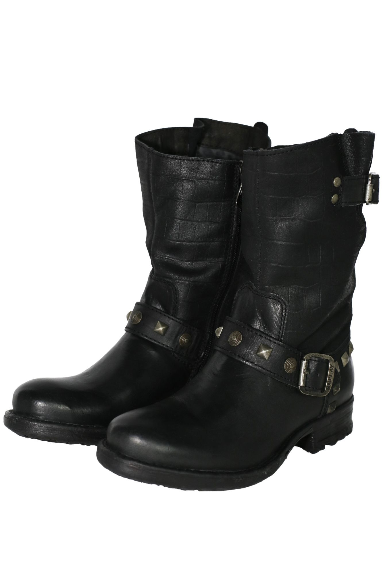 replay avery stiefel stiefeletten biker boots damen leder ebay. Black Bedroom Furniture Sets. Home Design Ideas
